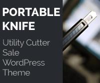 Portable Knife - Utility Cutter Sale WordPress Theme & Template