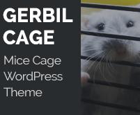 Gerbil Cage - Mice Cage WordPress Theme & Template