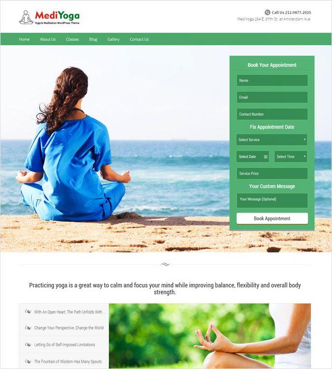 yoga WP theme