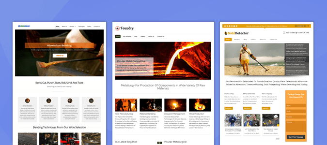 12 + Best Metal WordPress Themes for Fabrication, Foundry & Metallurgical Companies