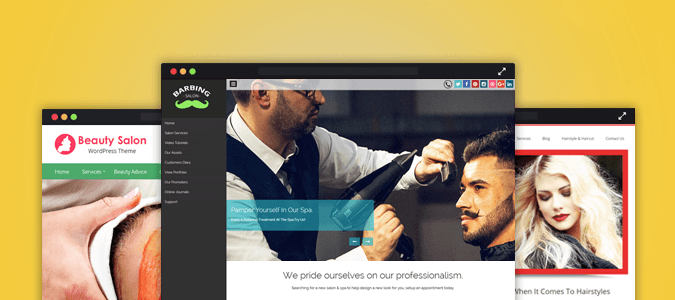 Barber Shop WordPress Themes