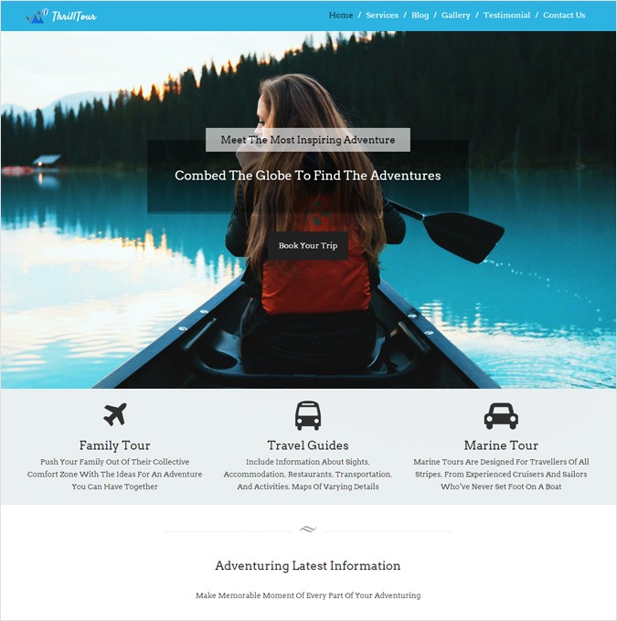 Adventure Trips Service WordPress Theme