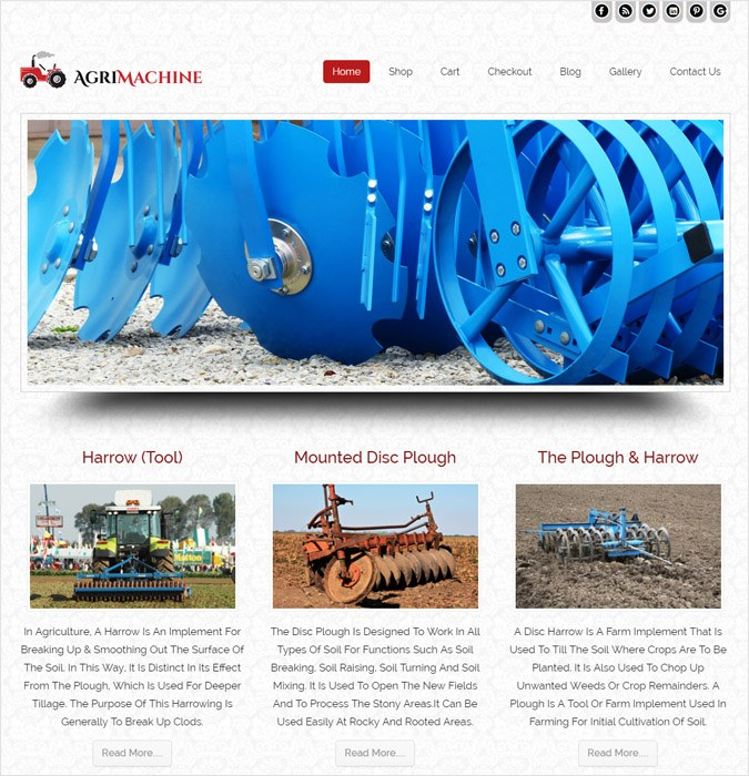 Agrimachine WP theme