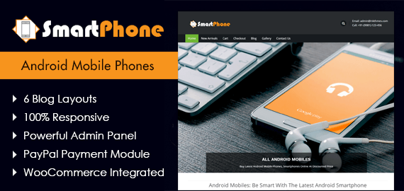 SmartPhone – Android Mobile Phones WordPress Theme