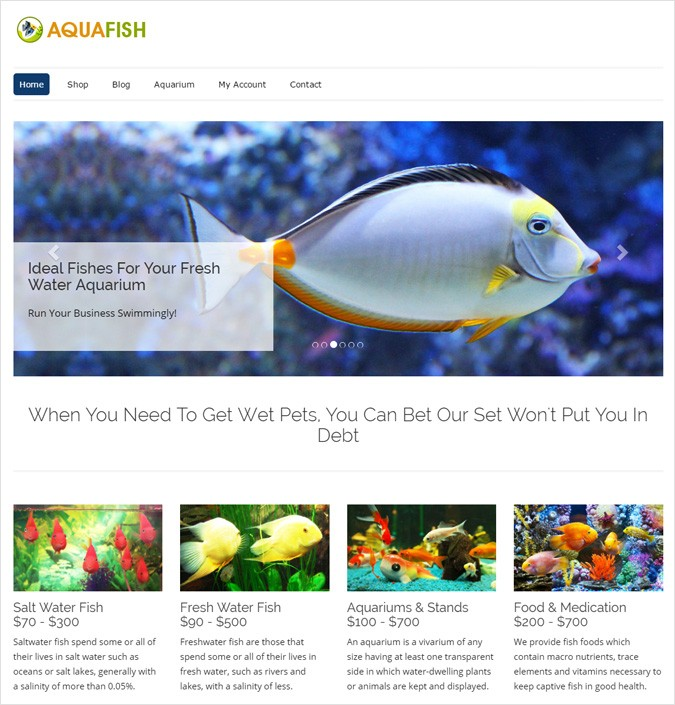 AquaFish WP theme