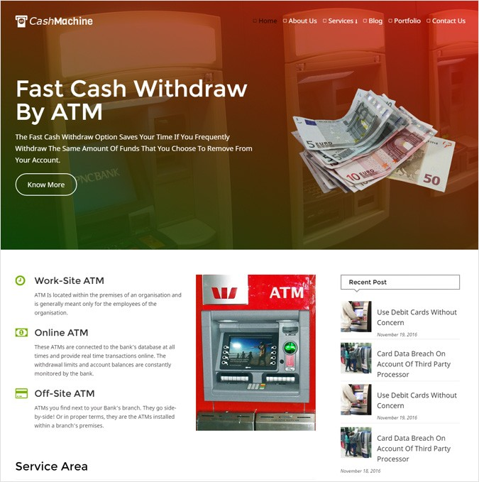 Atm Service WordPress Theme