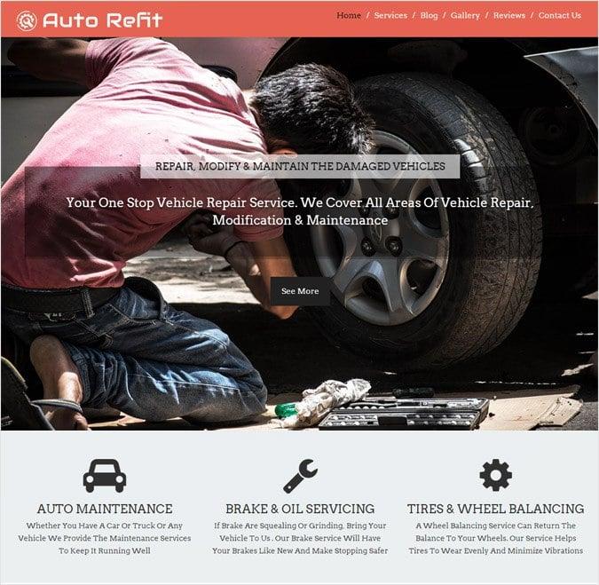 AutoRefit WP theme