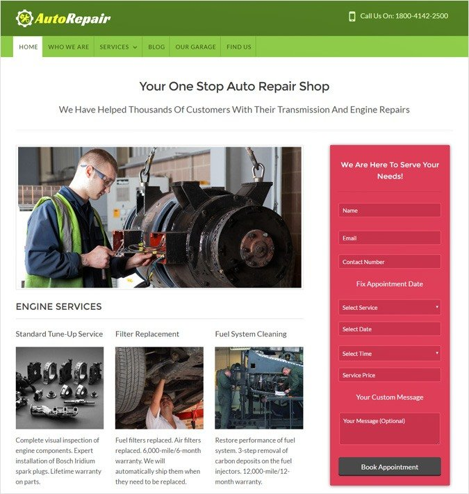 AutoRepair WP theme