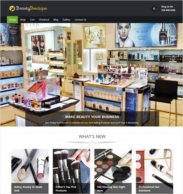 BeautyBoutique WP theme
