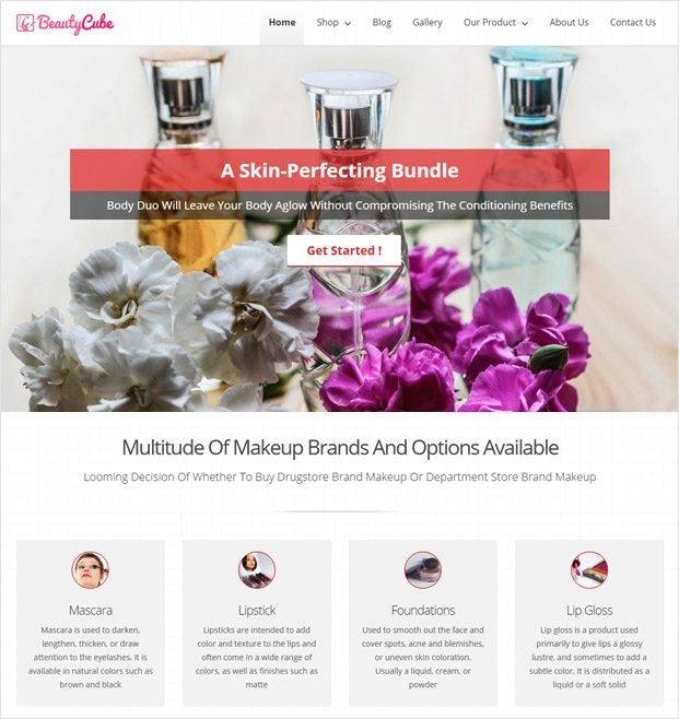 BeautyCube WP theme