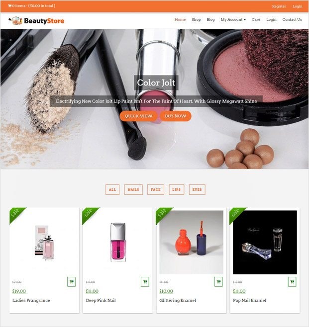 BeautyStore WP theme
