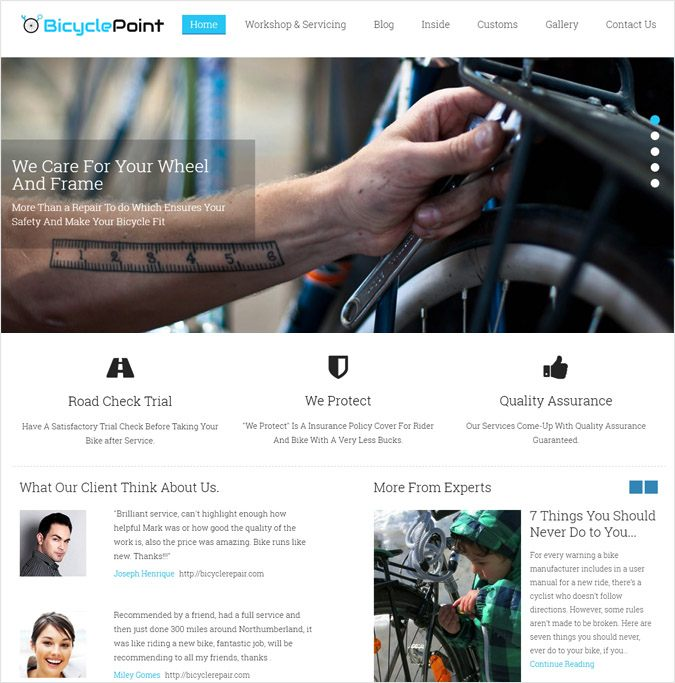 BicyclePoint WP theme