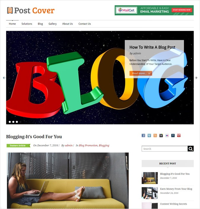 Blog Installation WordPress Theme