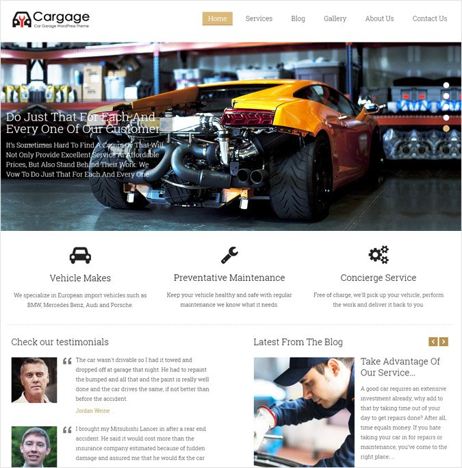 CarGage WP theme
