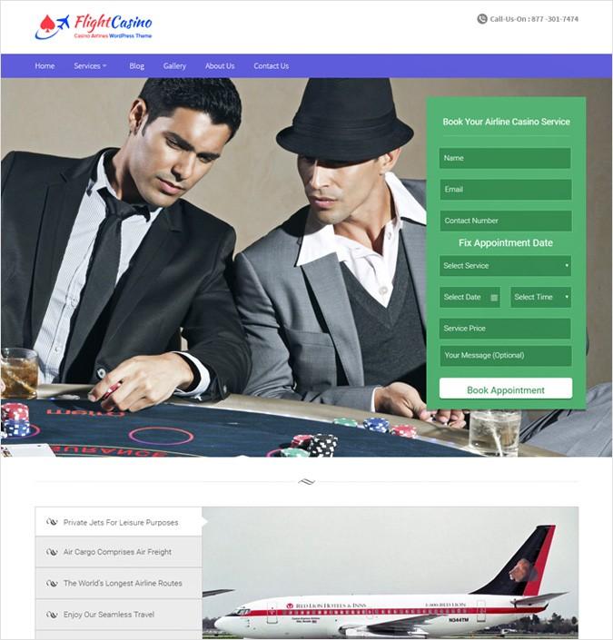 Casino Airlines WordPress Theme