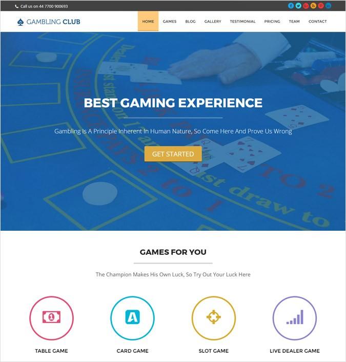 Casino Club & Hotel WordPress Theme