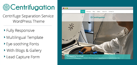 Centrifuge Separation Service WordPress Theme