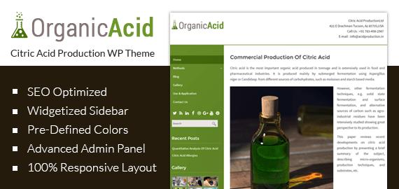 [OrganicAcid] Citric Acid Production WordPress Theme