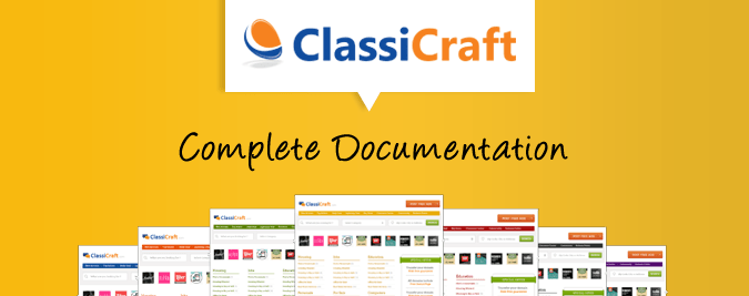 ClassiCraft WordPress theme featured image