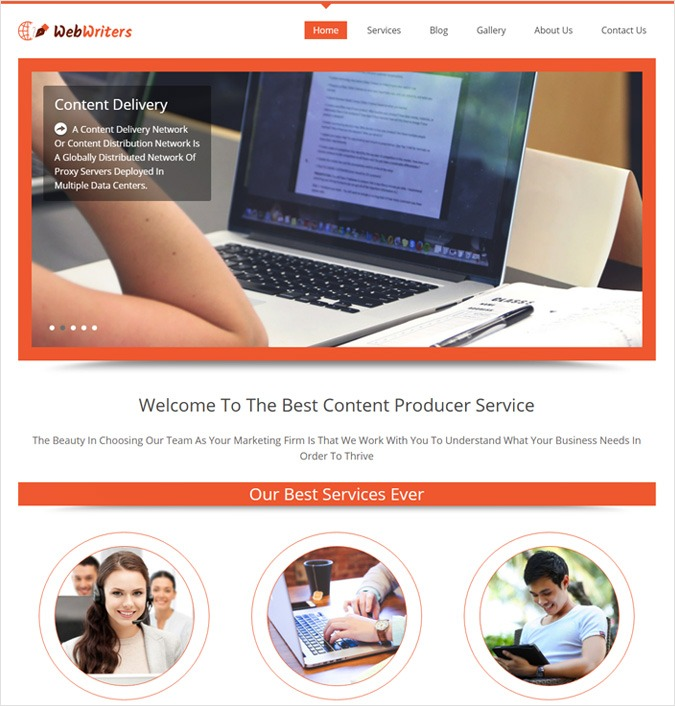 Content Producer WordPress Theme