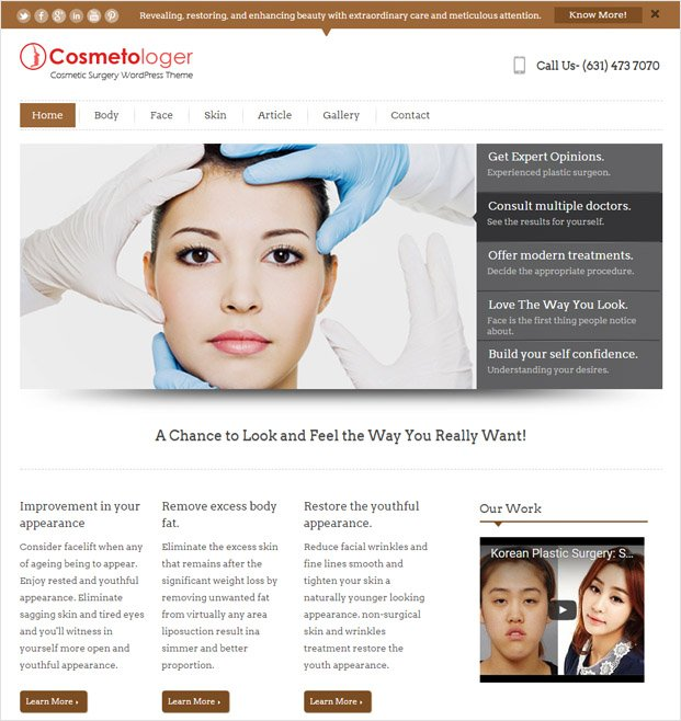 Cosmetologer WP theme