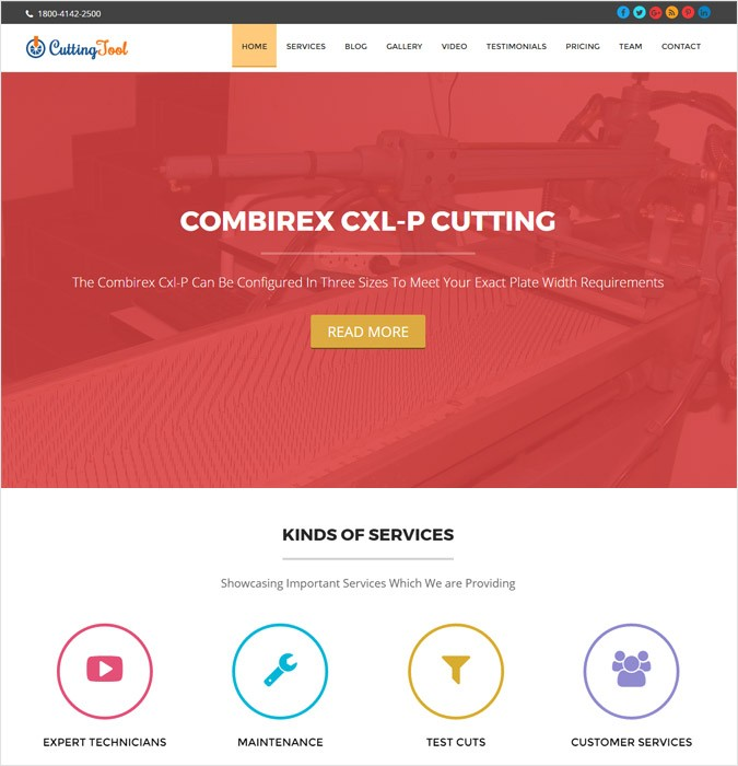 CuttingTool WP theme