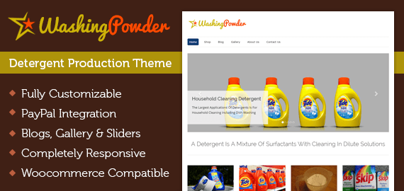 Washing Powder – Detergent Production WordPress Theme