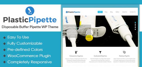 Disposable Buffer Pipette WordPress Theme
