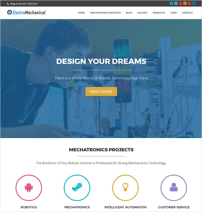 ElectroMechanical WP theme