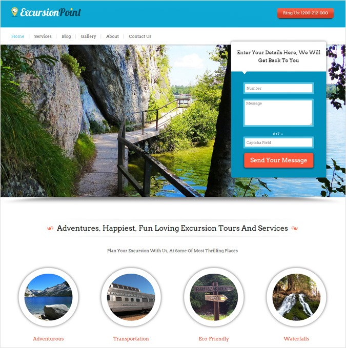 Excursion Service WordPress Theme