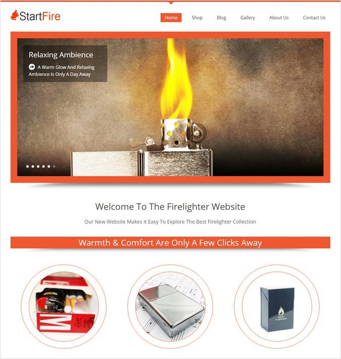 Firelighter Design WordPress Theme