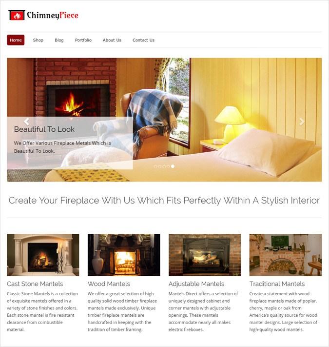 Fireplace Mantels WordPress Theme