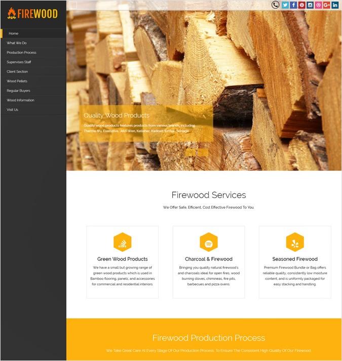 Firewood Production WordPress Theme