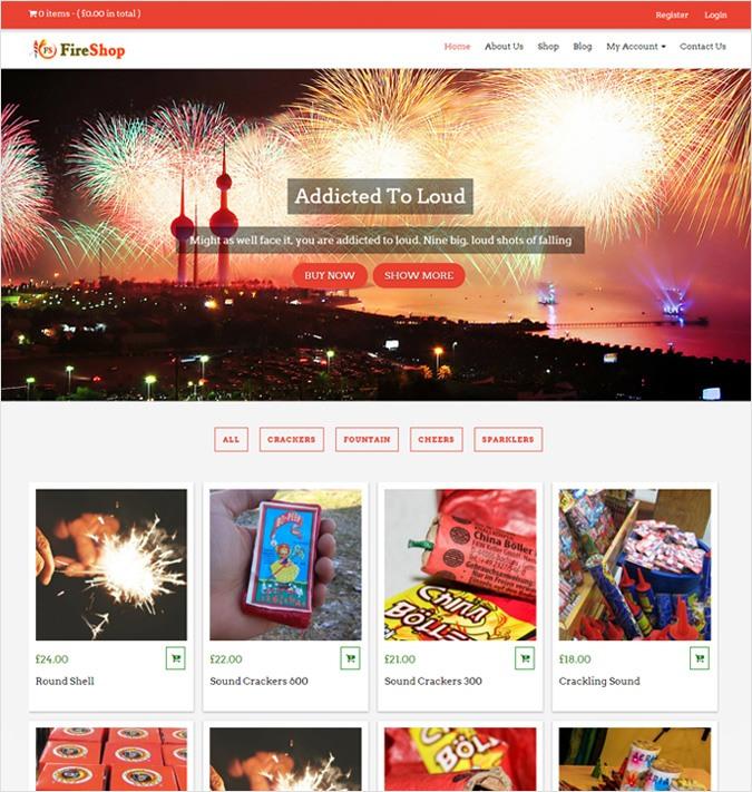 Fireworks Sales WordPress Theme