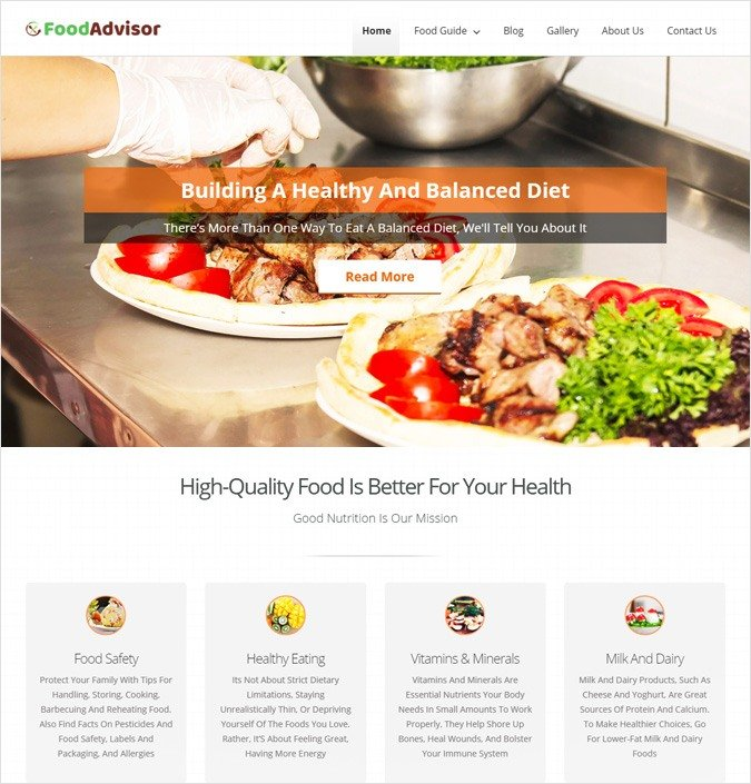 FoodAdvisor WP theme
