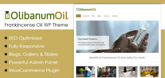 Frankincense Oil WordPress Theme & Template