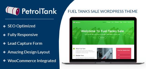 Fuel Tanks Sale WordPress Theme