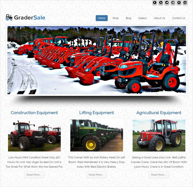 GraderSale WP theme
