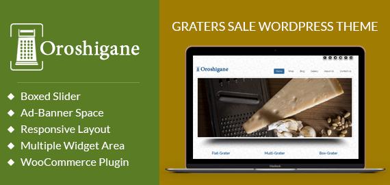 Oroshigane – Graters Sale WordPress Theme