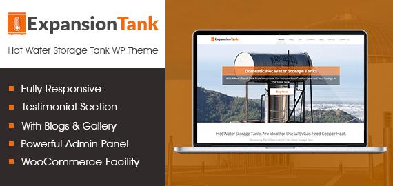ExpansionTank – Hot Water Storage Tank WordPress Theme