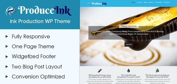 Ink Production WordPress Theme