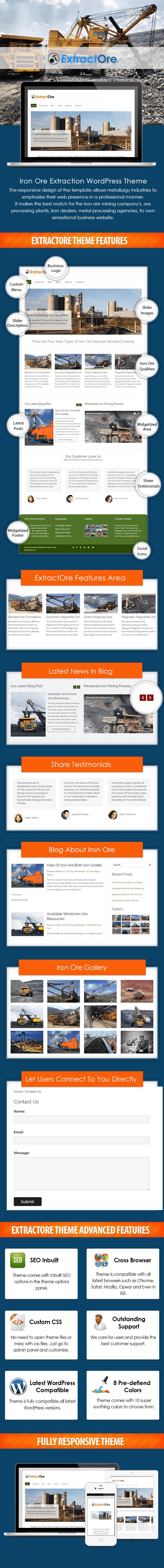 Iron Ore Extraction WordPress Theme