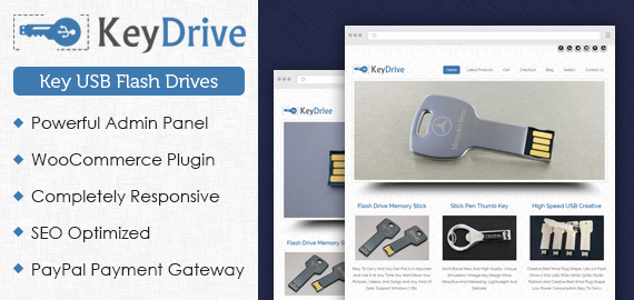 Key Drive – Key USB Flash Drives WordPress Theme