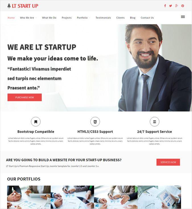 LT StartUp WP theme