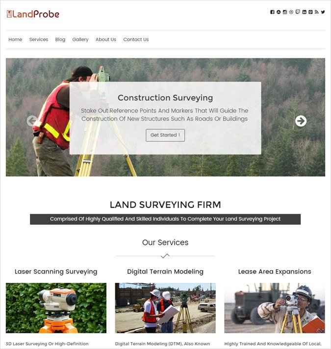 LandProbe wp theme