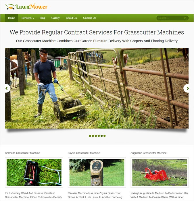 LawnMover WP theme
