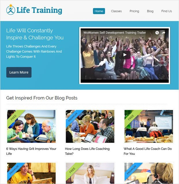 LifeTraining WP theme