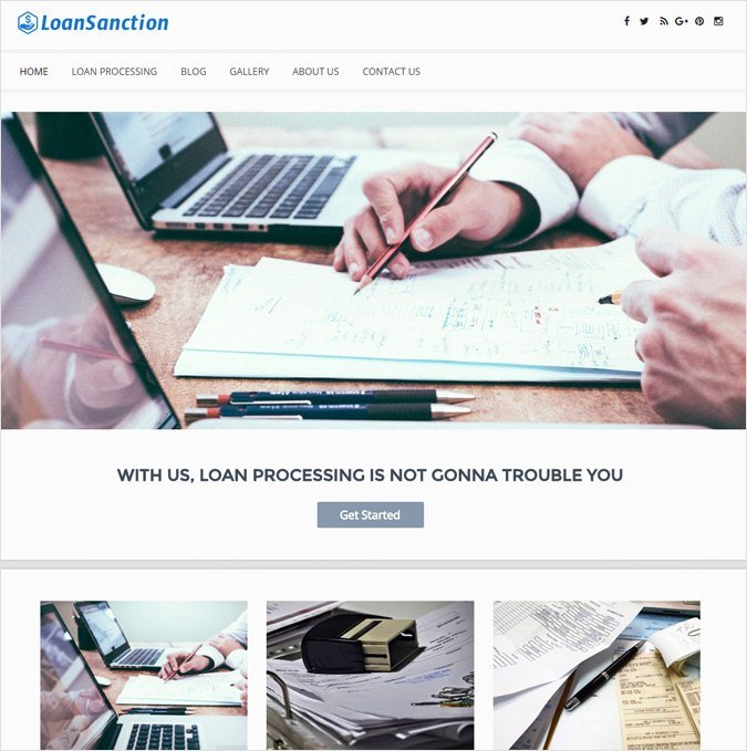 Loan Processing Corporate WordPress Theme