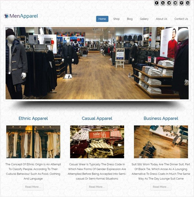 Male Wears Store WordPress Theme