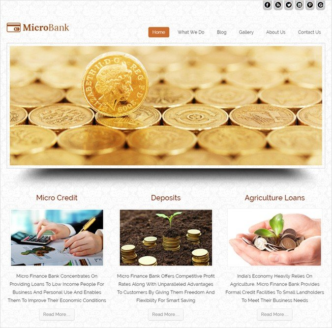 Microfinance Bank WordPress Theme